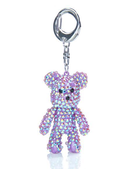 Bling Bear Keychain