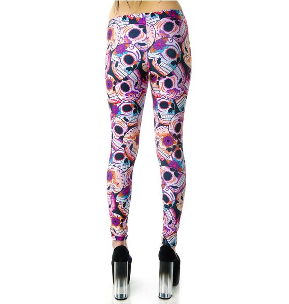 Zara Terez Day of the Dead Leggings
