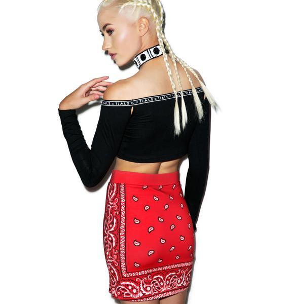 Illustrated People Bandana Mini Skirt