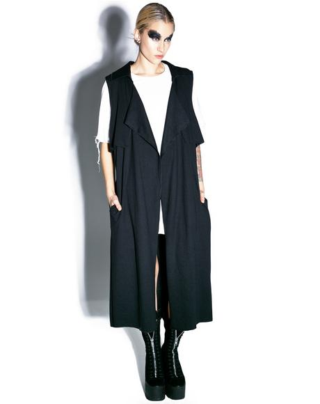 Ambivalent Sleeveless Trench