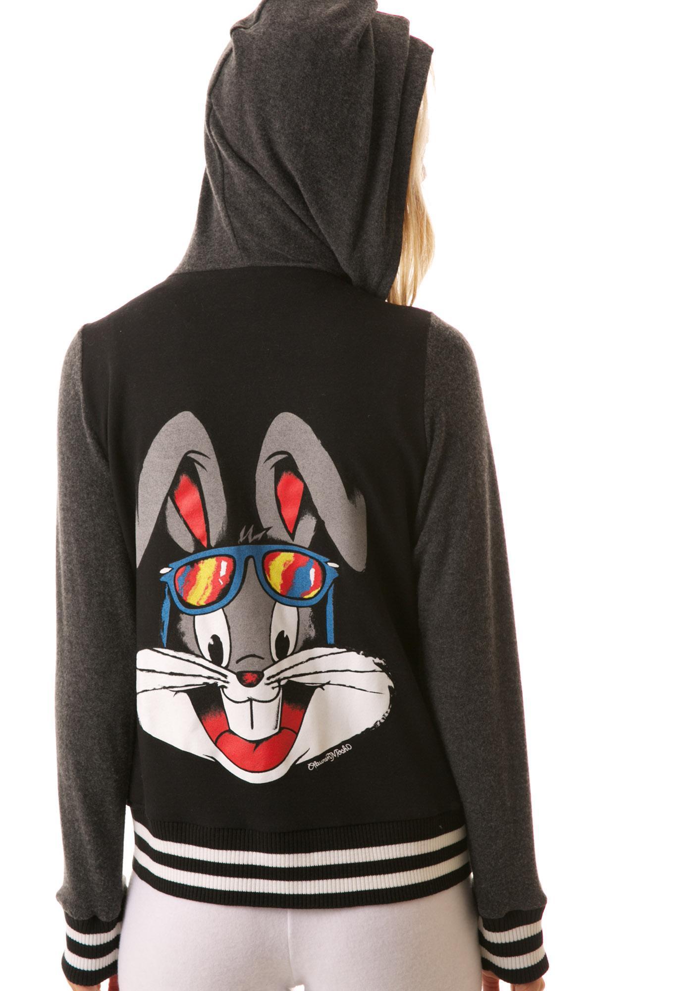 Lauren Moshi Bugs Bunny Sandra Varsity Zip Up