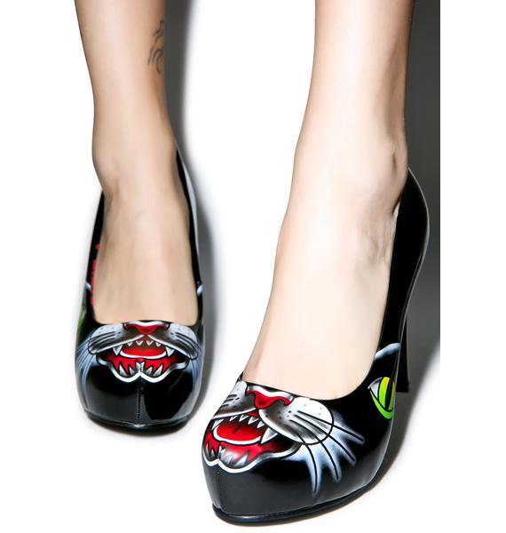 Iron Fist Black Cat Platform Heels