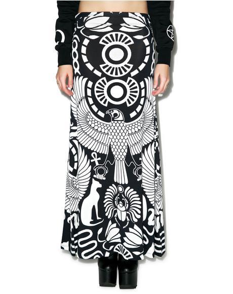 Vulture Maxi Skirt