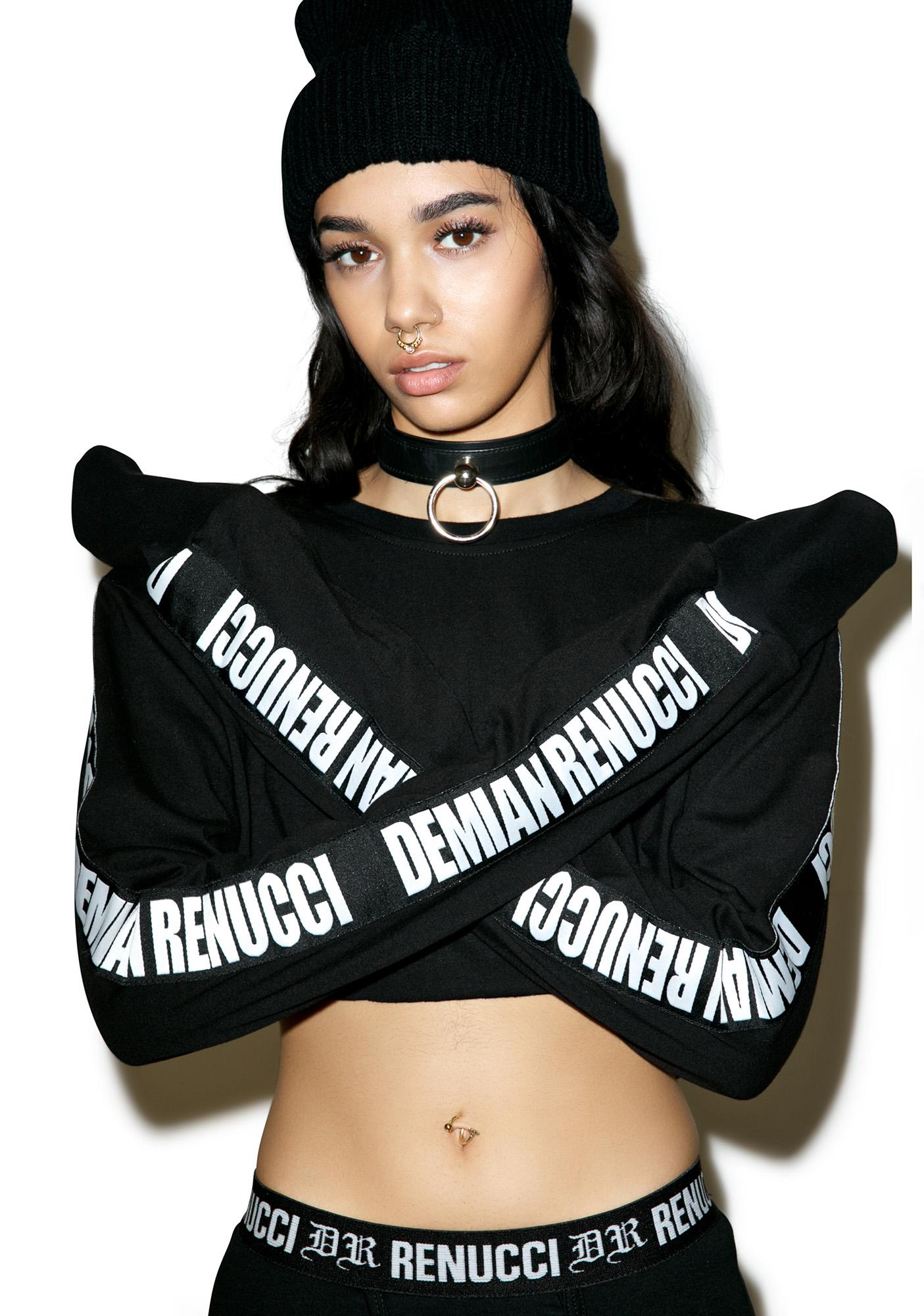 Demian Renucci DR Cropped Long Sleeve Tee