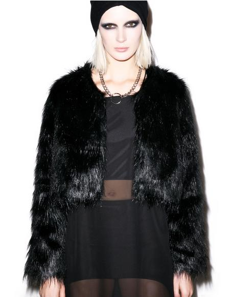 Faux Sho Cropped Fur Jacket