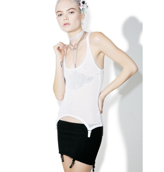 Fete Blanc Sabrina Garter Tank