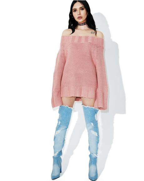 Open Hearted Knit Sweater