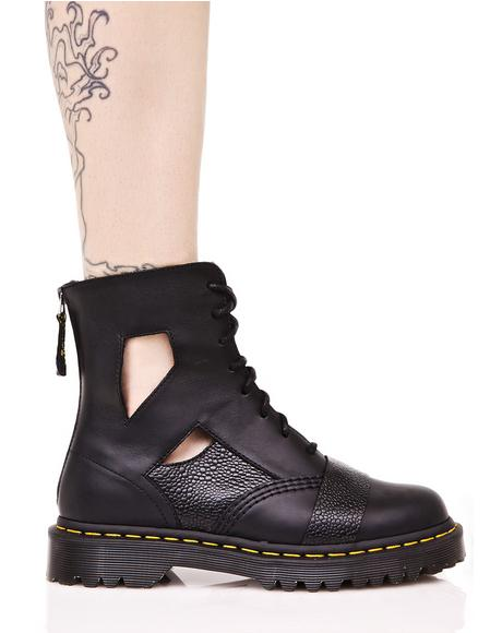Katrina Cut Out 8 Eye Boot