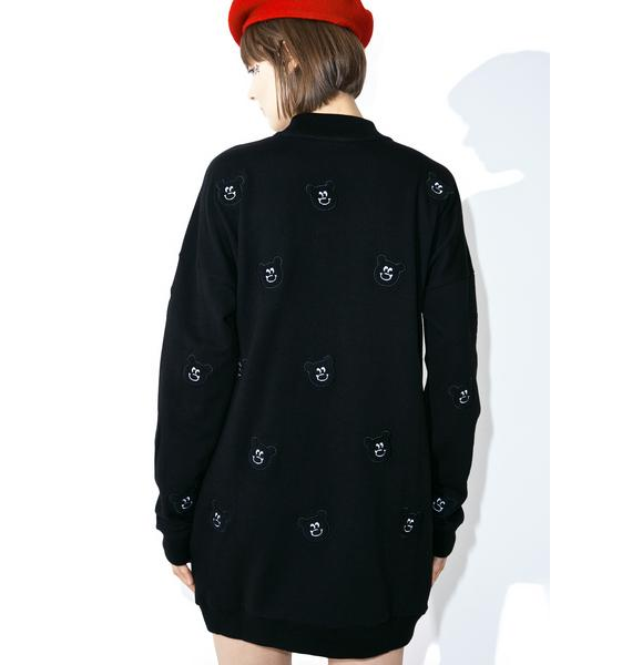 Lazy Oaf Black Fur Bear Sweatshirt