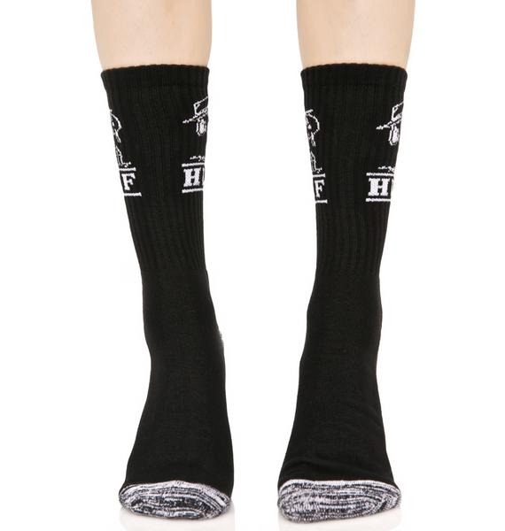 HUF Spike Crew Sock