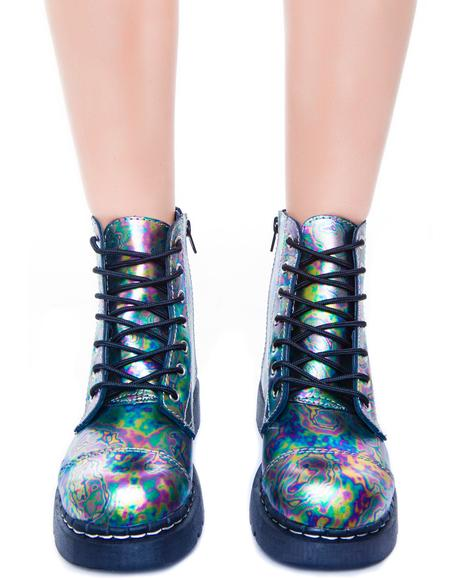 Oil Slick Leather 7 Eye Boot