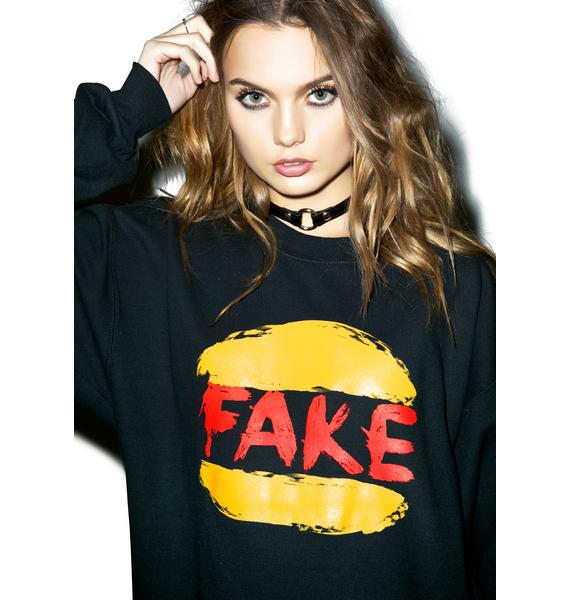Petals and Peacocks Fake King Burger Sweatshirt