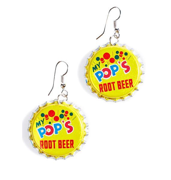 Root Beer Bottle Cap Earrings