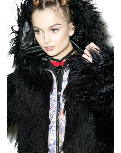 Faux Fur Dark Phenomena Coat