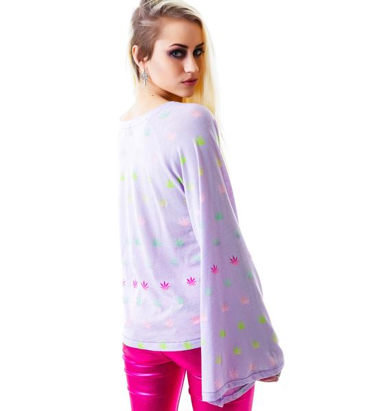 Wildfox Couture Sherbert Stoner Hotel Room Long Sleeve Tee