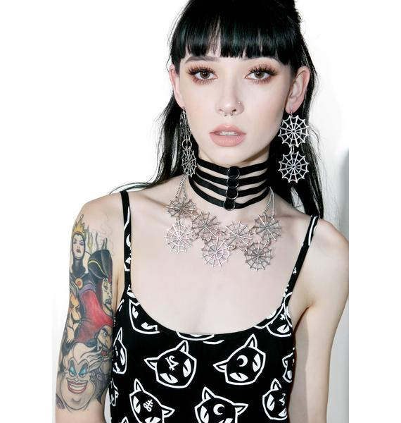 Regal Rose Double Web Earrings