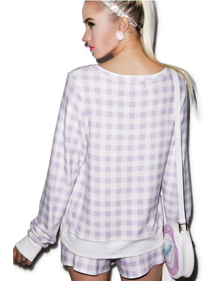 Gingham in Bel Air Baggy Beach Jumper
