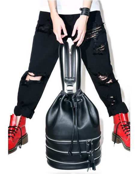 Schwarz Bucket Bag