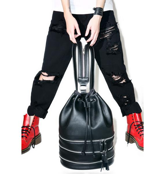 Current Mood Schwarz Bucket Bag