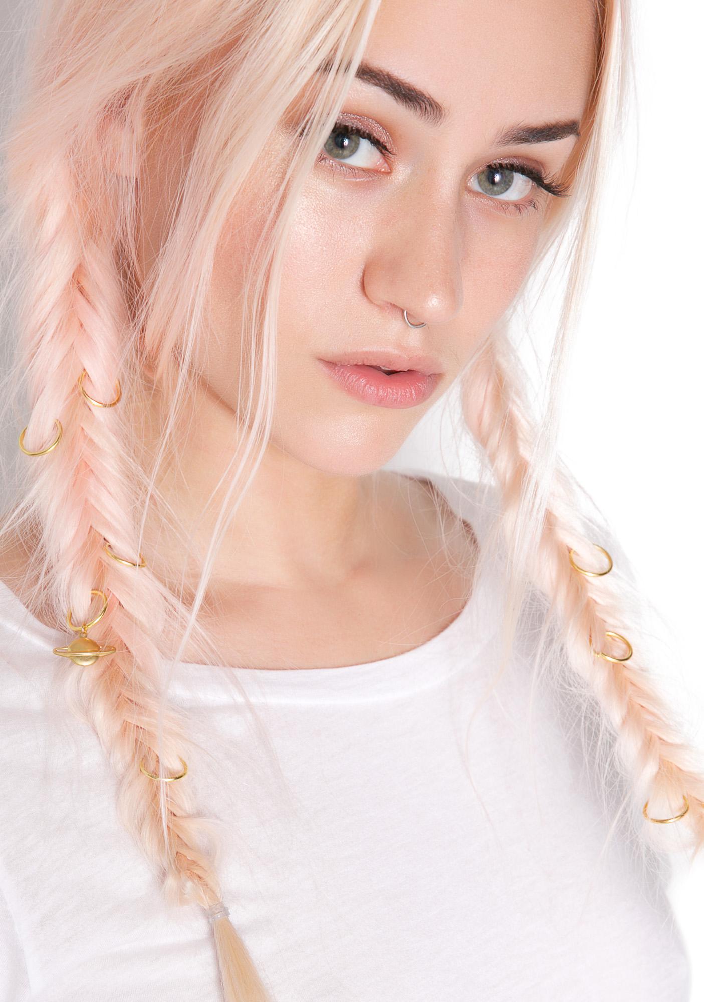 Regal Rose Planetary Aeon Hair Rings