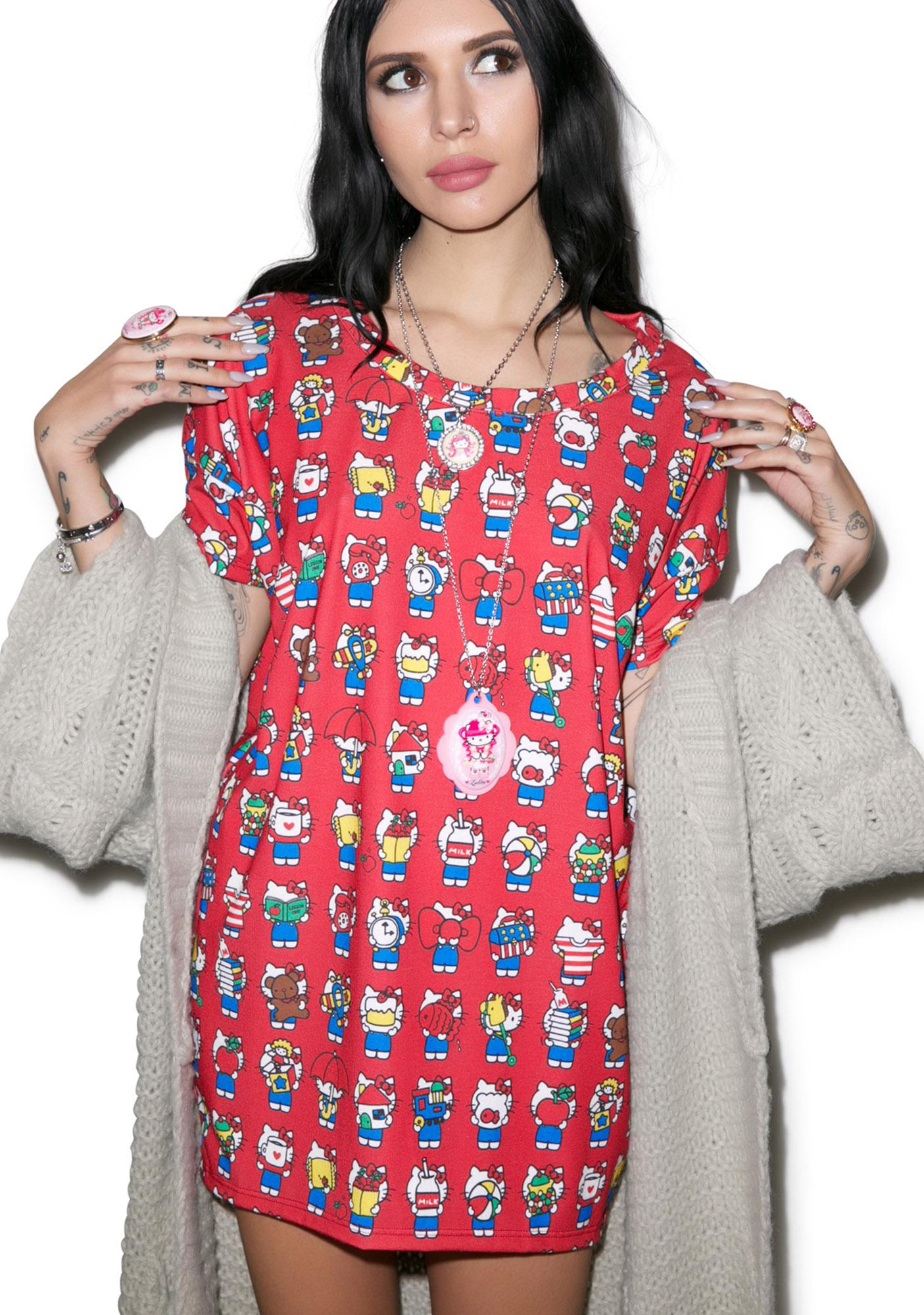 Japan L.A. Hello Kitty 40th Boxy Tee