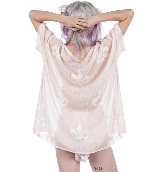 Wildfox Couture Cobain Royal Fleur Sweater