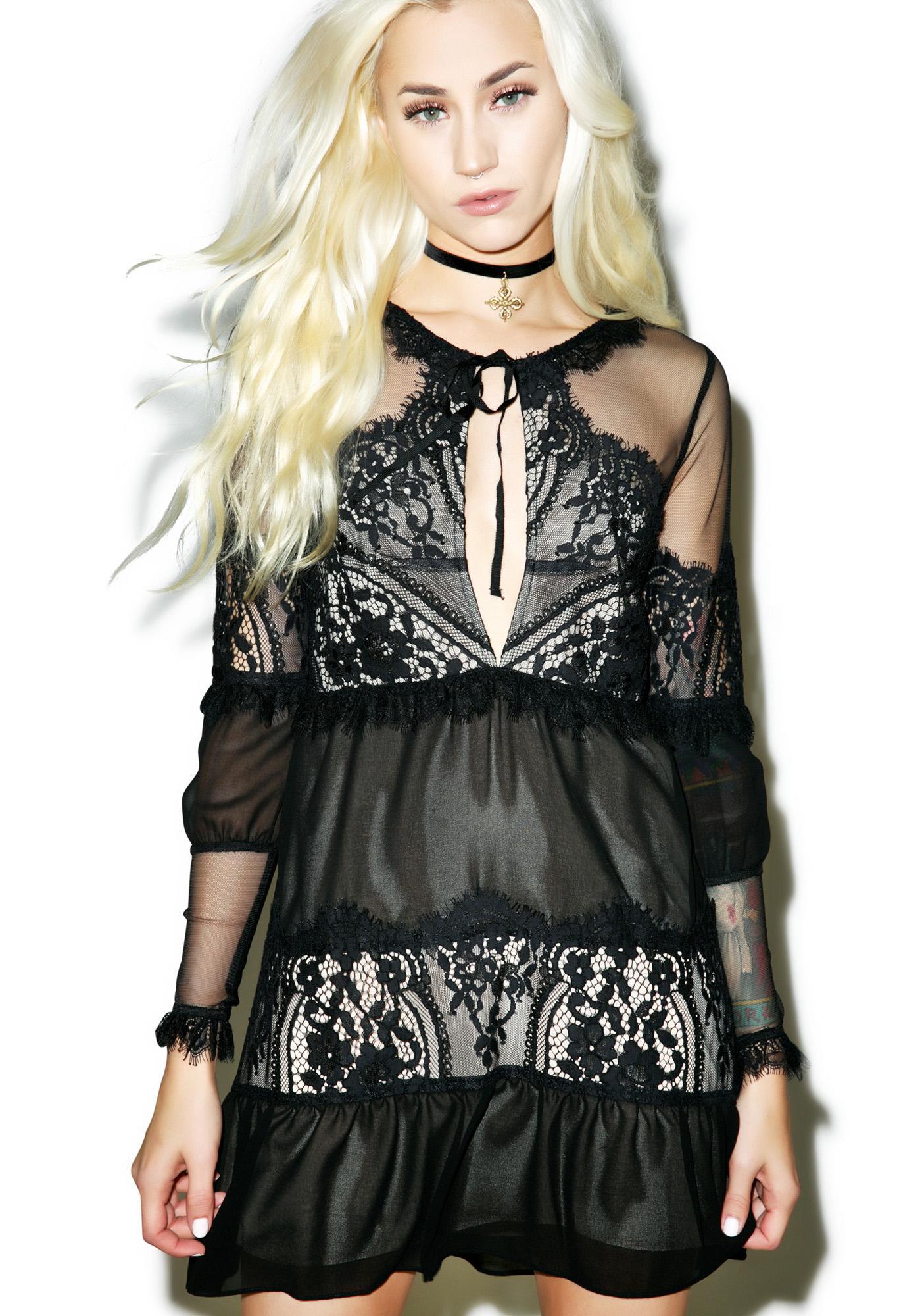 For Love & Lemons Alexa Mini Dress