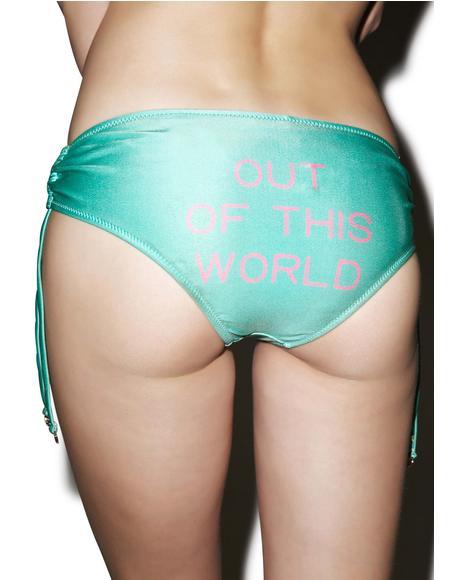 X Dolls Kill Out Of This World Ruched Bikini Bottom