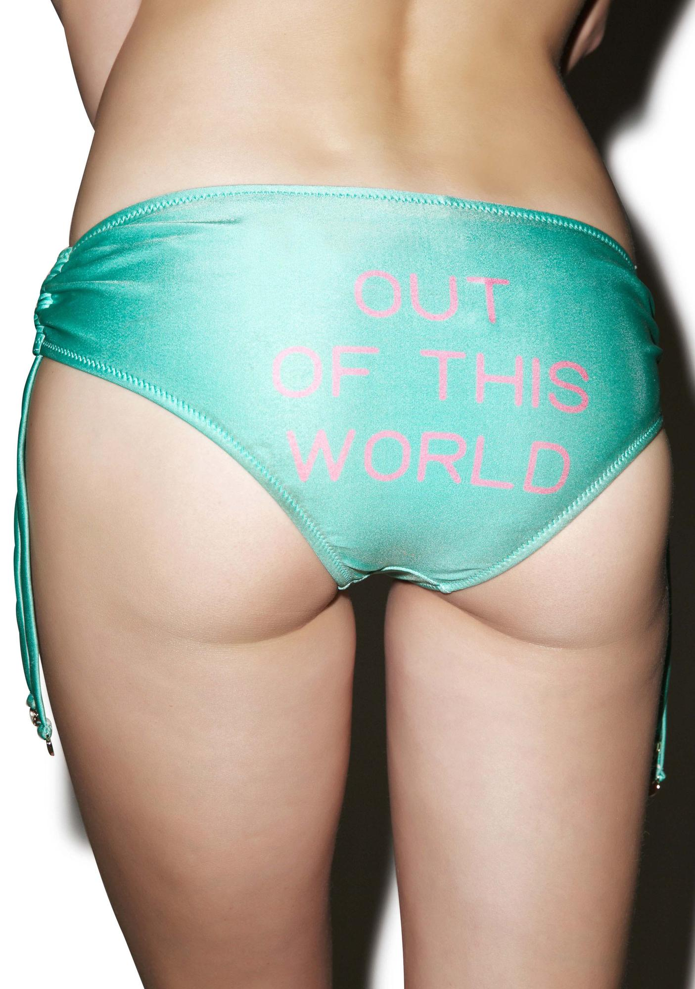 Wildfox Couture X Dolls Kill Out Of This World Ruched Bikini Bottom