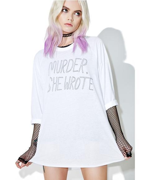Murder She Wrote Baseball Tee