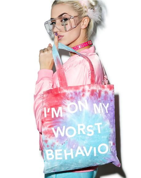 Worst Behavior Tote Bag
