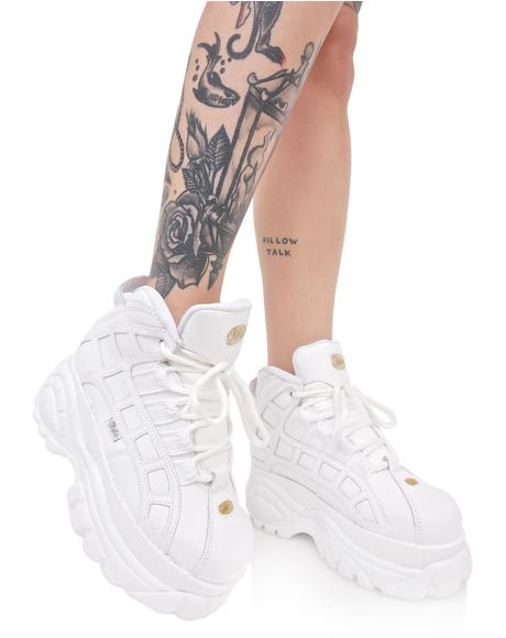 Blanco Arched Platform Sneakers