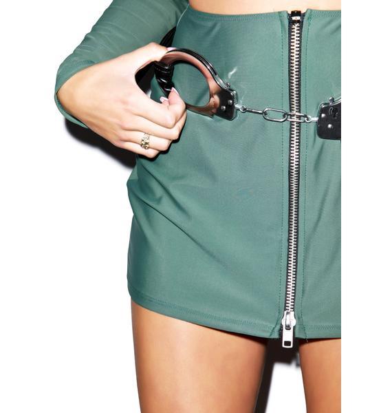 Naughty Handcuff Belt
