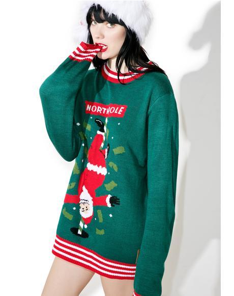 North Pole Dancer Sweater
