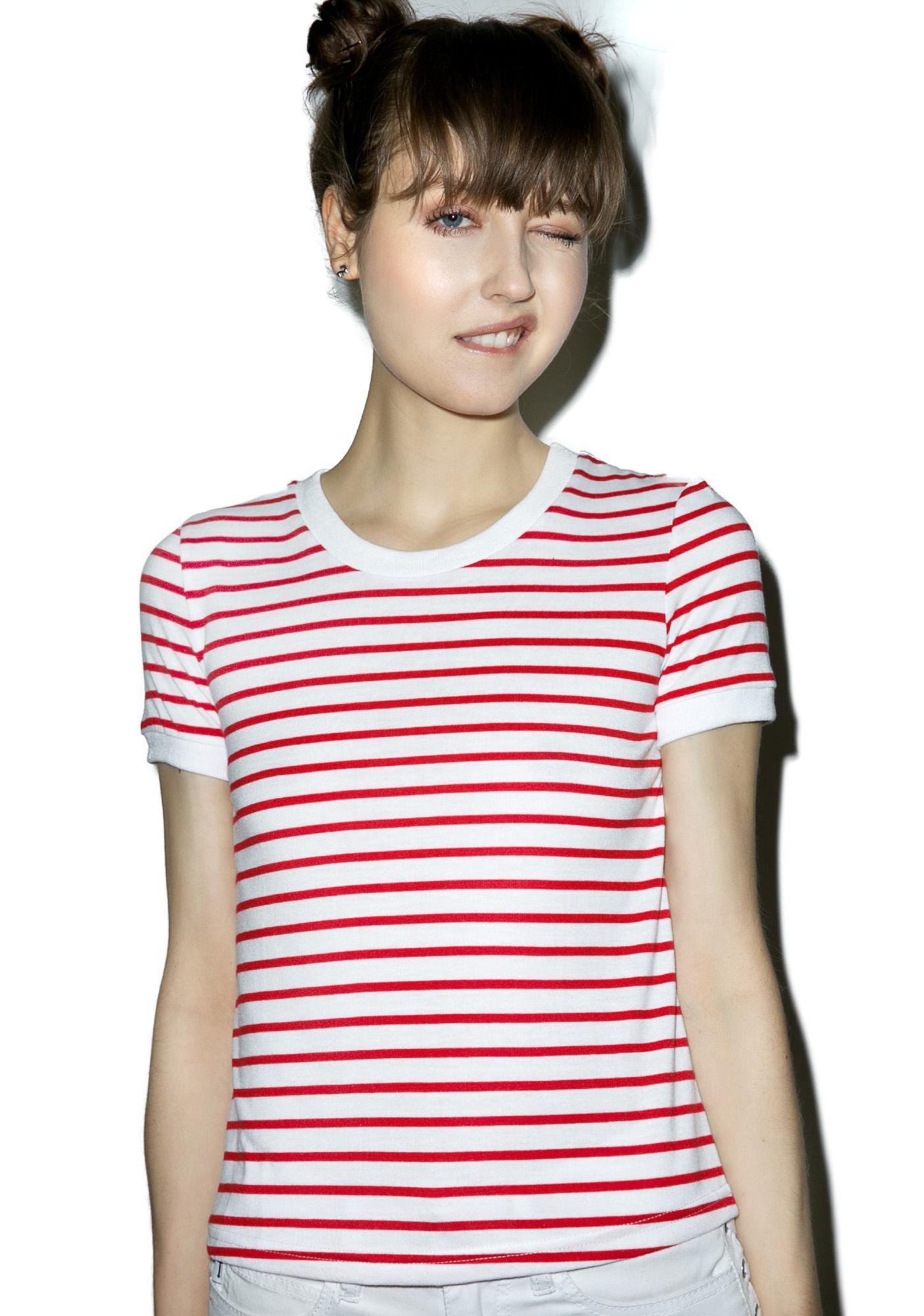 Glamorous Evangeline Stripe Tee