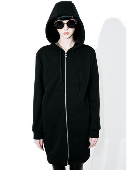 Emily Long Zip-Up Hoodie