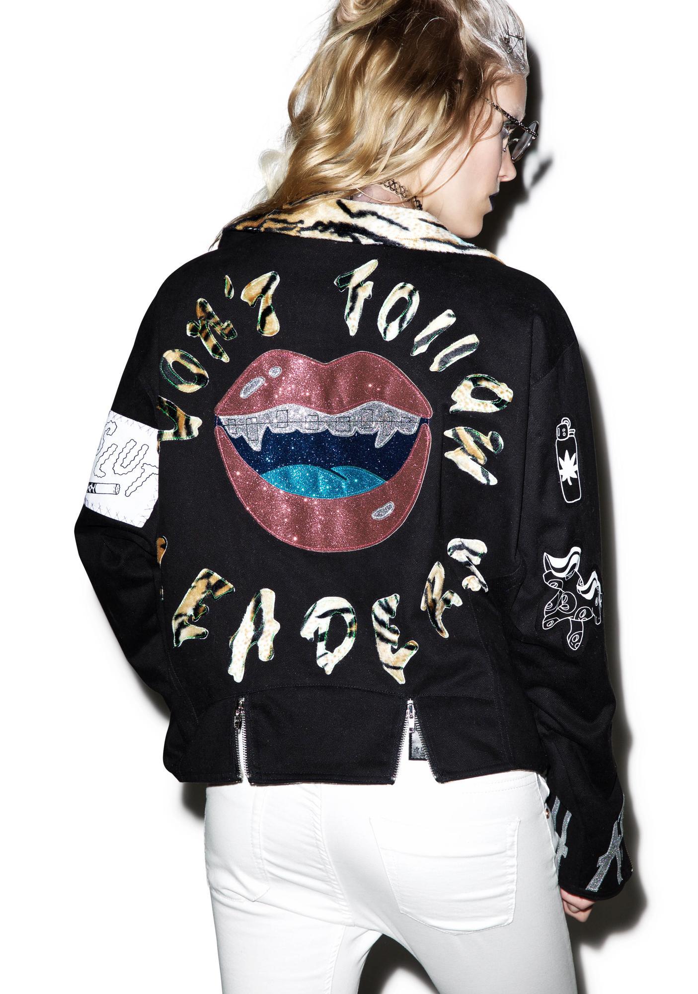 Indyanna Kelsey Denim Tiger Biker Jacket