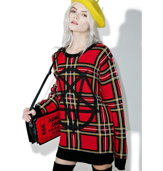 Current Mood Beastplaid Pullover Sweater