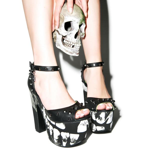 Iron Fist Loose Tooth Super Platform Heels