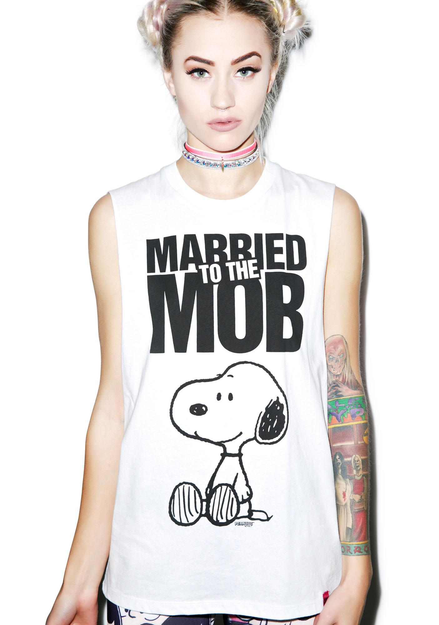Married to the Mob Snoopy Mob Muscle Tee