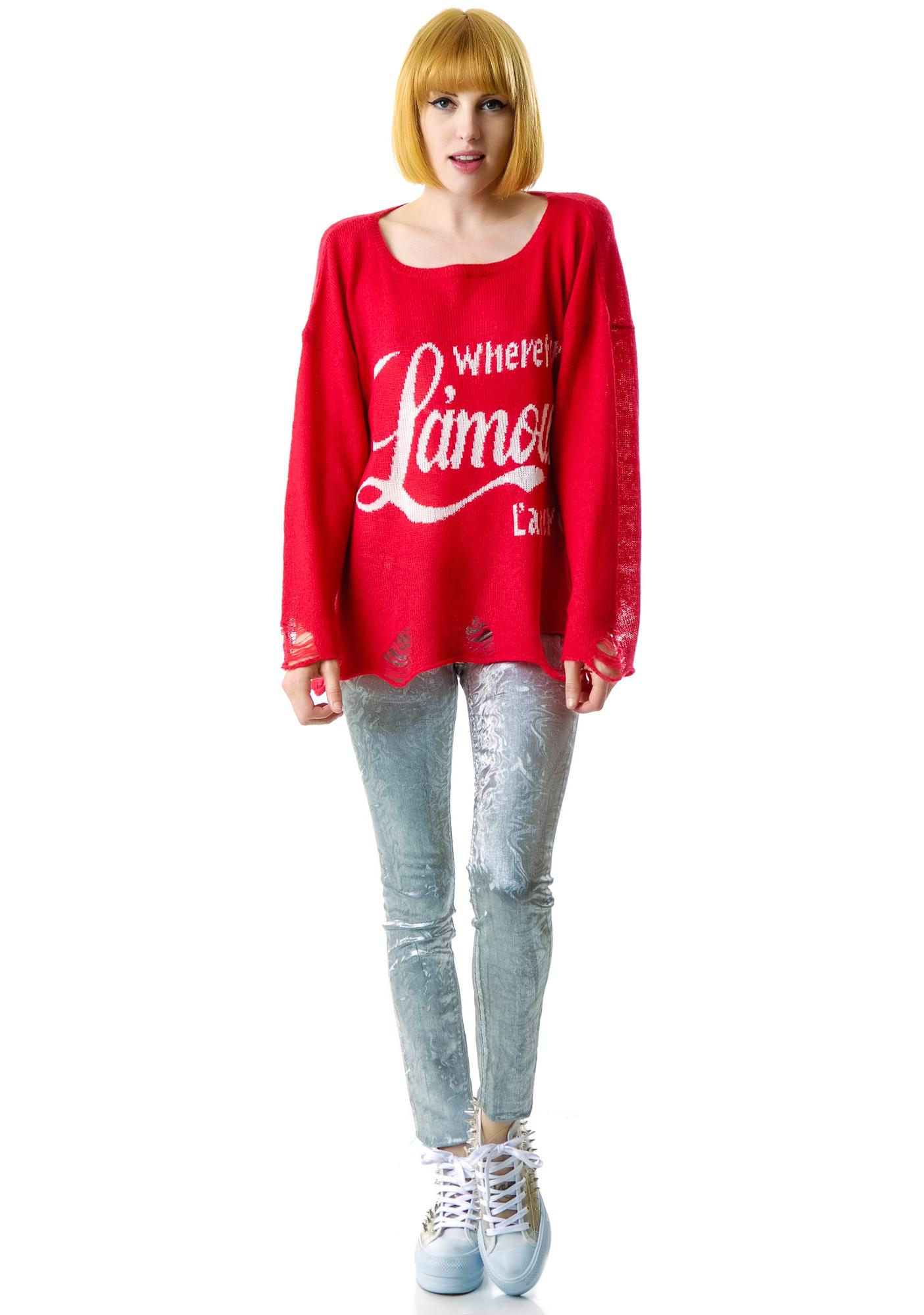 Wildfox Couture L'Amour Lennon Sweater