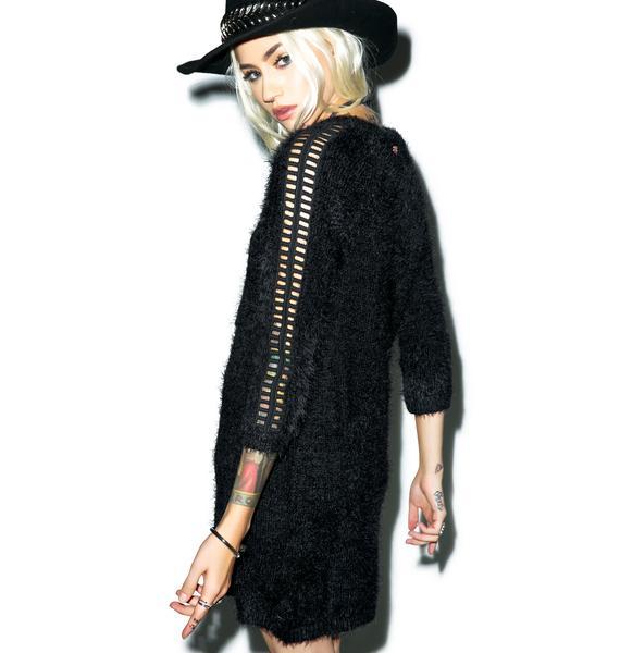For Love & Lemons Bardot Sweater Dress