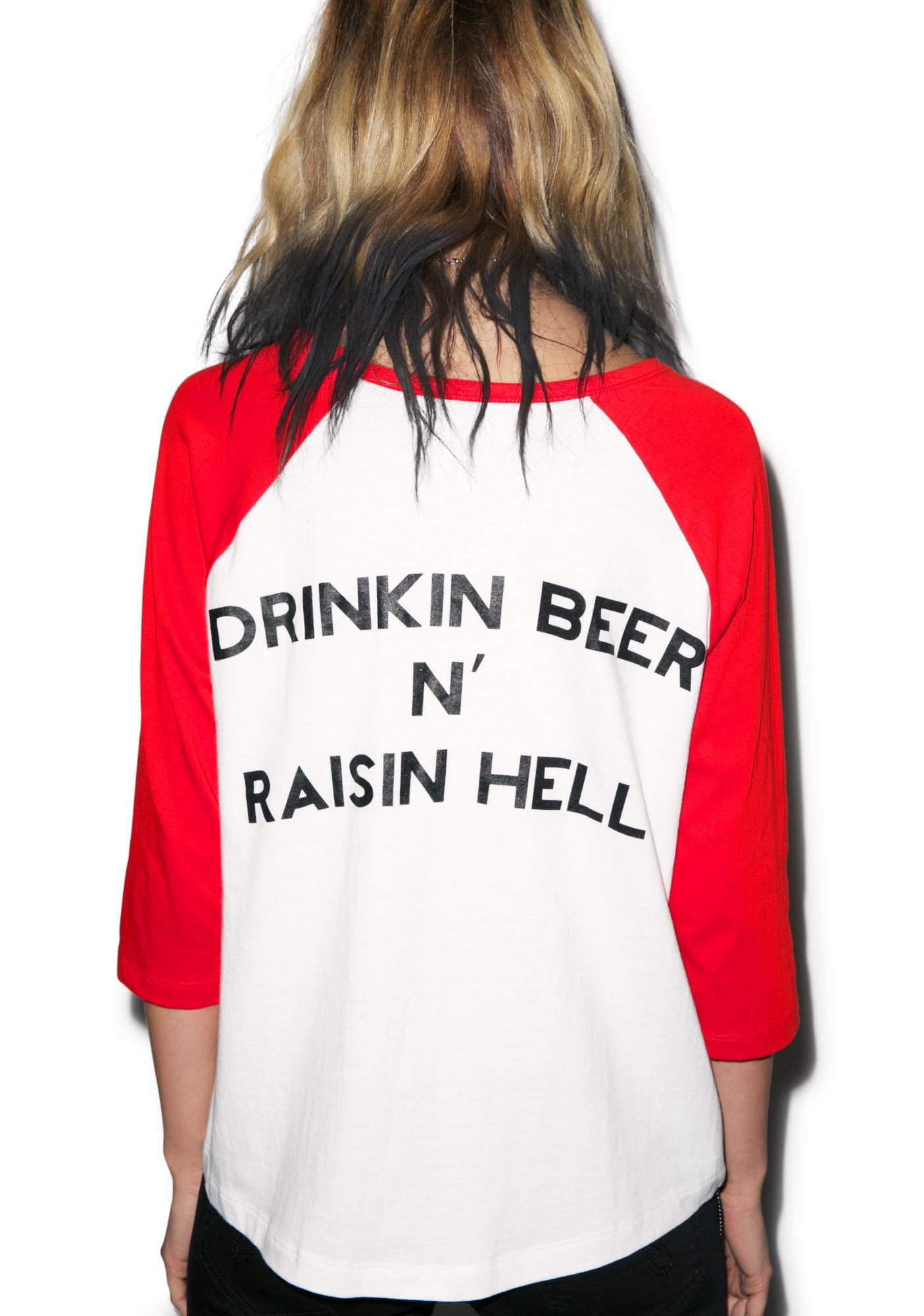 Ruby Starling Raisin' Hell Raglan