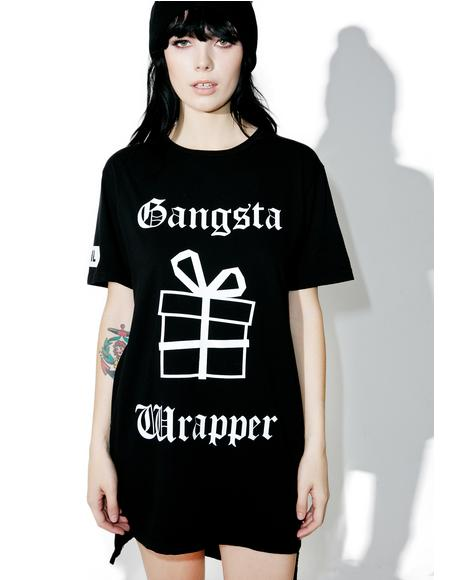 Gangsta Wrapper Hi Lo Tee