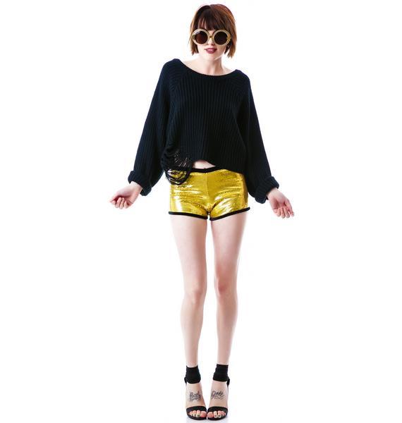 Marialia Suck It Sequin Shorts