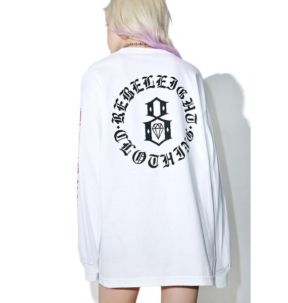 Rebel8 Immortals White Long Sleeve Tee
