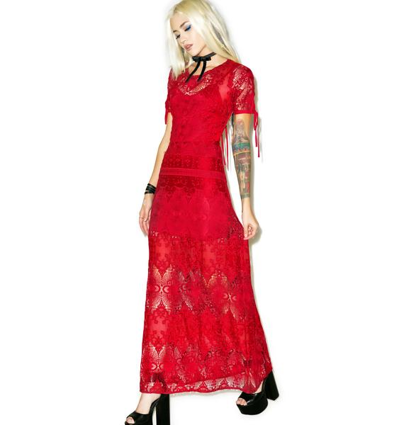 For Love & Lemons Scarlet Maxi Dress