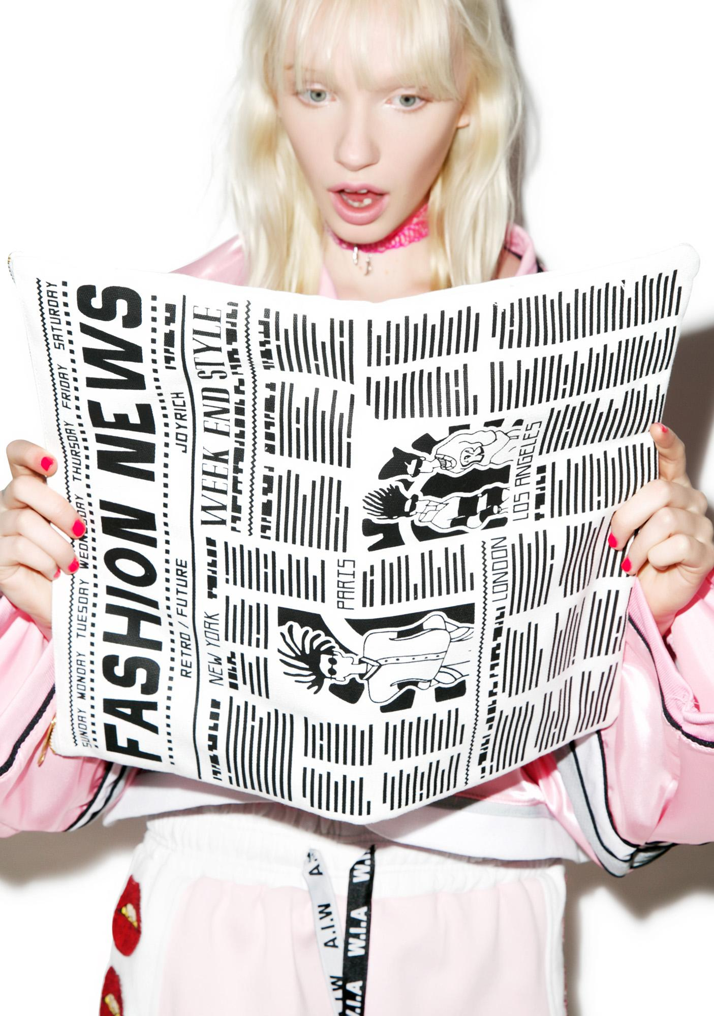 Joyrich Newspaper Clutch