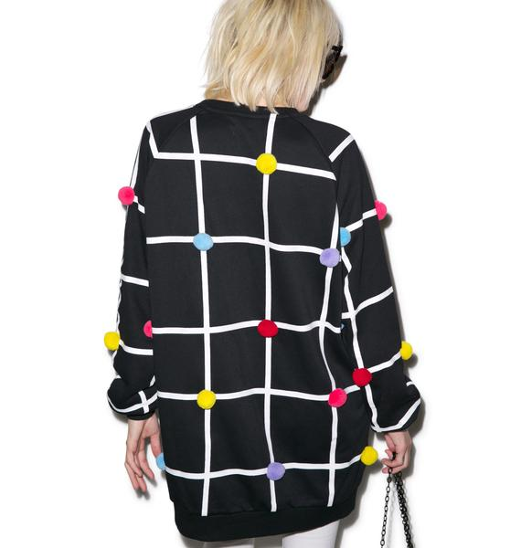 Lazy Oaf Pom Grid Sweatshirt