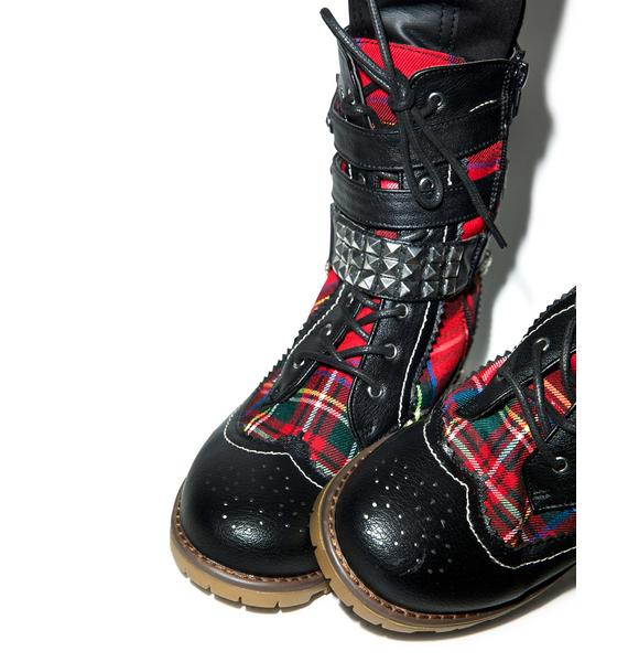 Rawk The Casbah Combat Boots